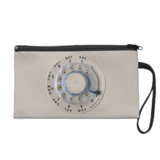 Retro Rotary Phone Dial Wristlet Purse