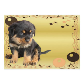 Retro Rottweiler Party Card
