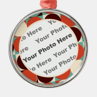 Retro Round Photo Ornament