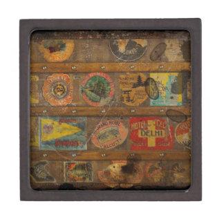 Retro Round the World Trunk Gift Box