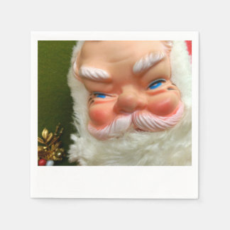 Retro Rubber-Faced Santa Napkins