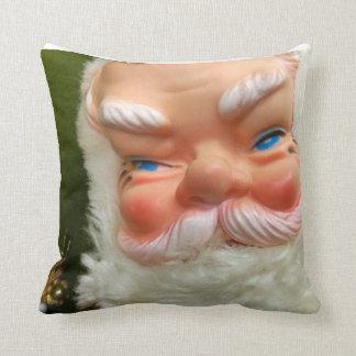 Retro Rubber-Faced Santa Pillow