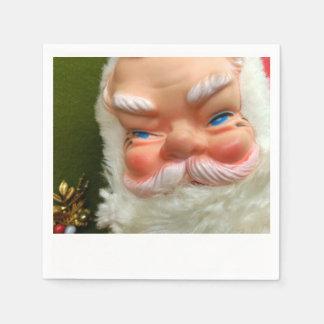 Retro Rubber-Faced Santa Polaroid Napkins Paper Napkin
