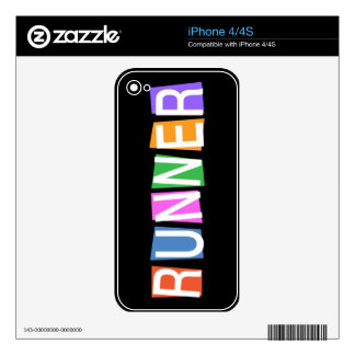 Retro Runner Decals For iPhone 4