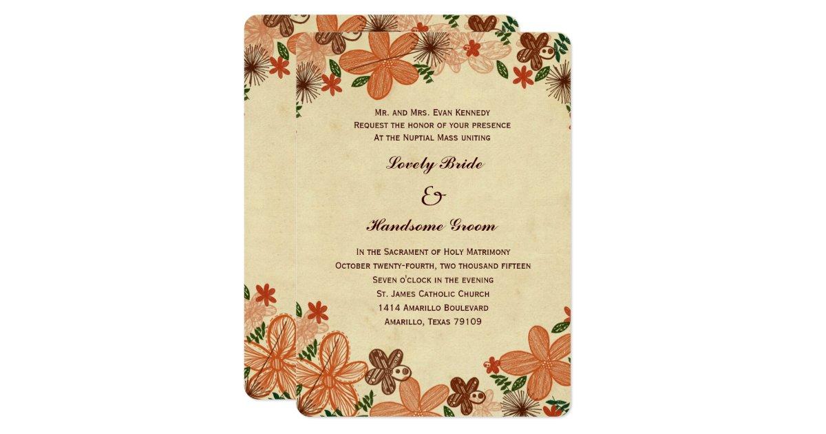 11 best wedding images on autumn invitations catholic - Catholic Wedding Invitations