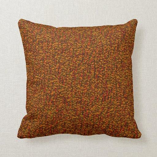 Retro Decorative Pillows : Retro Rust Throw Pillow Zazzle