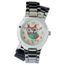 Retro Rustic Custom Owl Wrist Watch