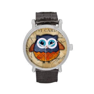 Retro Rustic Owl Wristwatches
