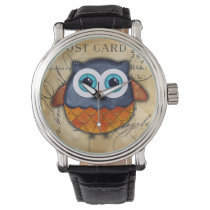 Retro Rustic Owl Wrist Watch