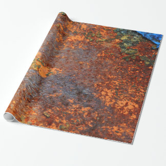 Retro Rusty Grunge Texture Pattern Wrapping Paper