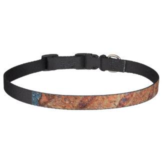 Retro Rusty Street Grunge Texture Pattern Pet Collars