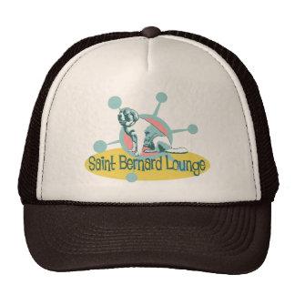 Retro Saint Bernard Lounge Mesh Hats