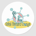 Retro Saint Bernard Lounge Stickers