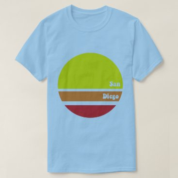 Beach Themed Retro San Diego T-Shirt