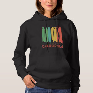 Retro San Jose California Skyline Hoodie