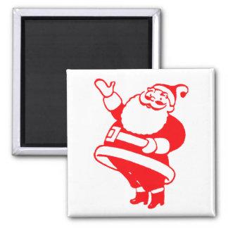 Retro Santa 2 Inch Square Magnet