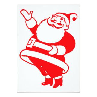 Retro Santa 5x7 Paper Invitation Card