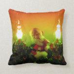 Retro Santa and Bubble Lights Pillow