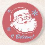 Retro Santa Believe Coaster