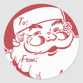 Retro Santa Believe Gift Tag