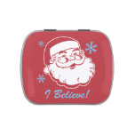Retro Santa Believe Jelly Belly Candy Tins
