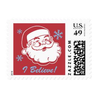 Retro Santa Believe Stamp
