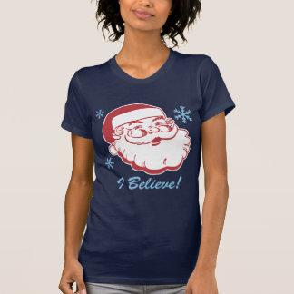Retro Santa Believe T Shirt