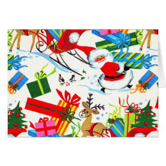 RETRO SANTA CHRISTMAS CARD