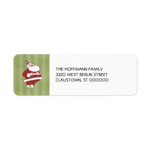 Retro Santa Christmas Return Address Labels