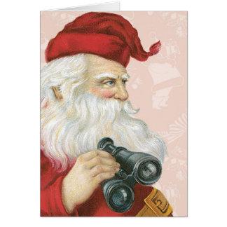 Retro Santa Claus Greeting Cards