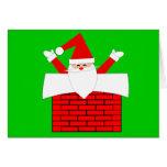 Retro Santa Claus Christmas Card Design
