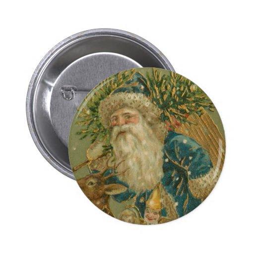 Retro Santa Claus from 1900's Button