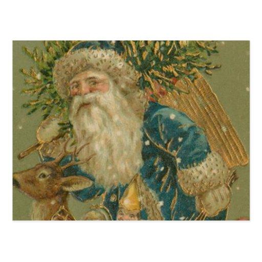 Retro Santa Claus from 1900's Postcard   Zazzle