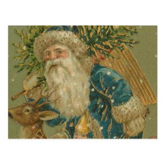 Retro Santa Claus from 1900's Postcard