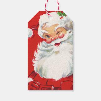 Retro Santa Claus Gift Tags