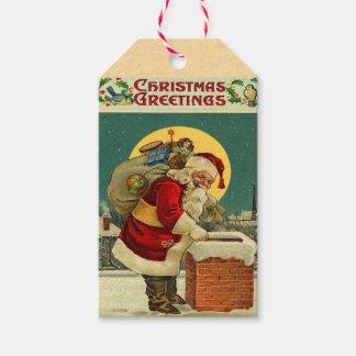 Retro Santa Claus Holiday Gift Tags Pack Of Gift Tags