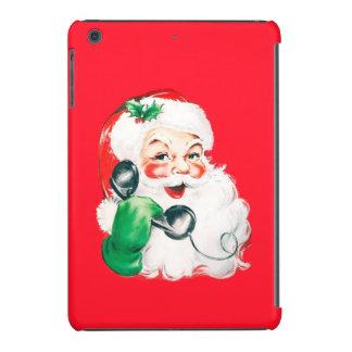 Retro Santa Claus on the Phone Vintage Christmas iPad Mini Retina Covers