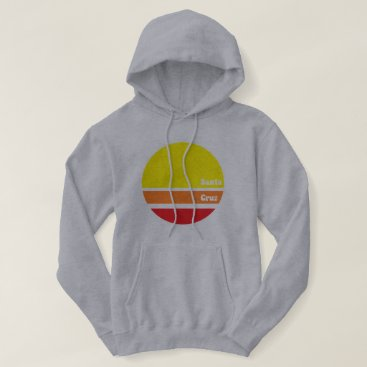 Beach Themed Retro Santa Cruz Hoodie