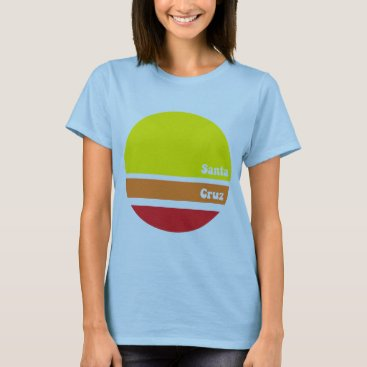 Beach Themed Retro Santa Cruz T-shirt