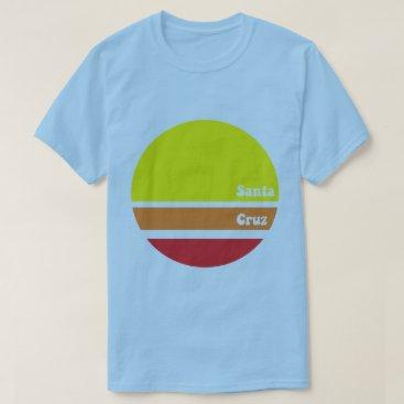Beach Themed Retro Santa Cruz T-shirt