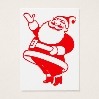 Retro Santa Gift Tag