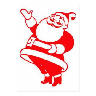 Retro Santa Gift Tag Large Business Card