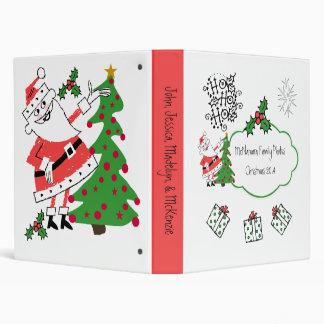 Retro Santa Ho Ho Ho Holiday Custom Binder