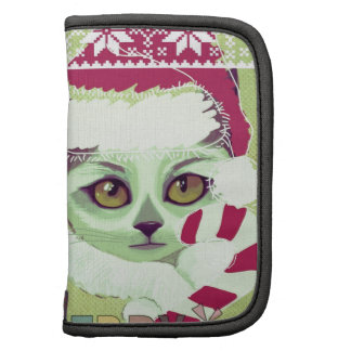 retro Santa kitty candy cane collection Planners