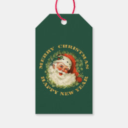 Retro Santa Personalized Gift Tags