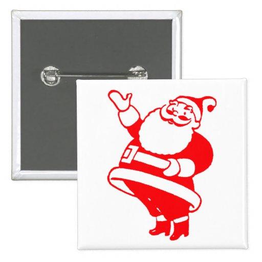 Retro Santa Pinback Button