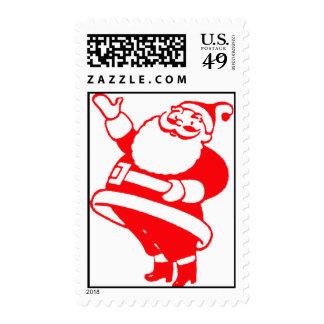 Retro Santa Postage Stamps
