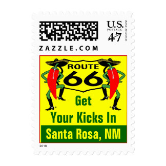 Retro Santa Rosa NM Chile Route 66 Vintage Road Postage