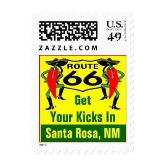 Retro Santa Rosa NM Chile Route 66 Vintage Road Stamp