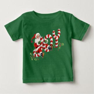Retro Santa Sending Joy Christmas Holiday Apparel Baby T-Shirt
